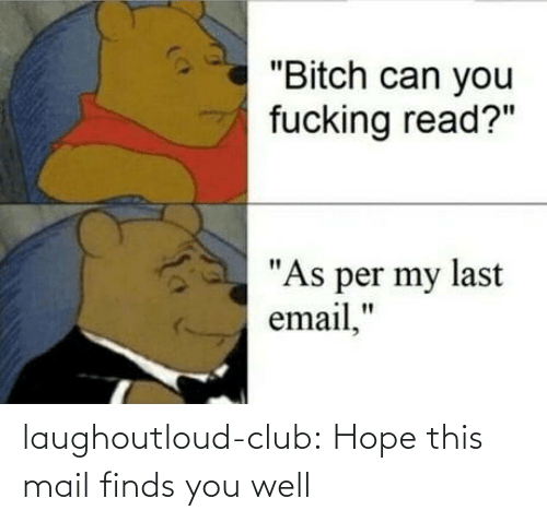 "Bitch, Club, and Fucking: ""Bitch can you  fucking read?""  ""As per my last  email,"" laughoutloud-club:  Hope this mail finds you well"