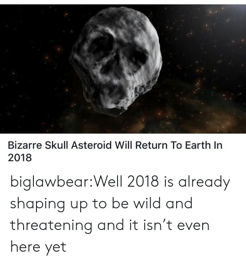 Target, Tumblr, and Blog: Bizarre Skull Asteroid Will Return To Earth In  2018 biglawbear:Well 2018 is already shaping up to be wild and threatening and it isn't even here yet