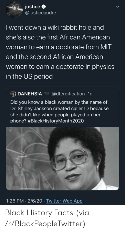 History: Black History Facts (via /r/BlackPeopleTwitter)
