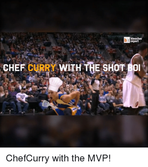 Chef Curry: bleacher  ireport  CHEF CURRY WITH THE SHOT  BOI ChefCurry with the MVP!