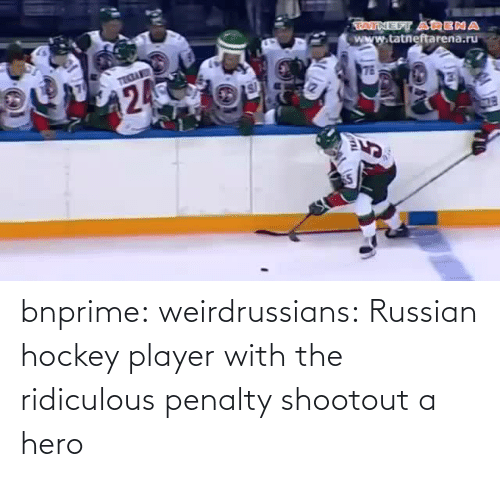 Penalty: bnprime: weirdrussians:   Russian hockey player with the ridiculous penalty shootout    a hero