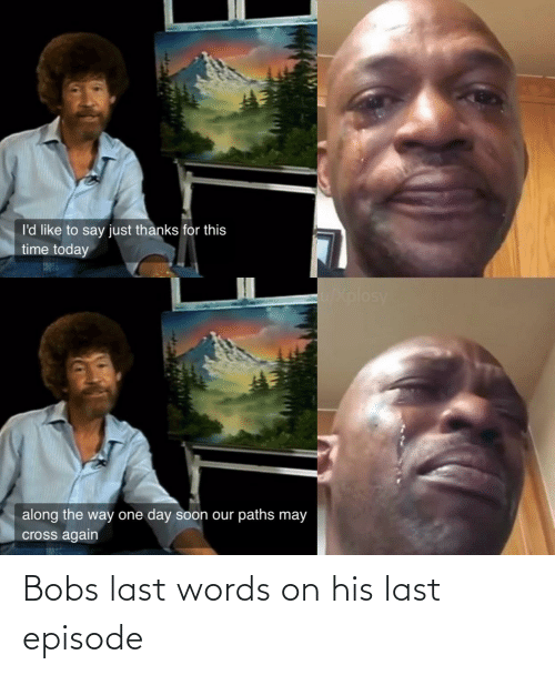 Last Words: Bobs last words on his last episode