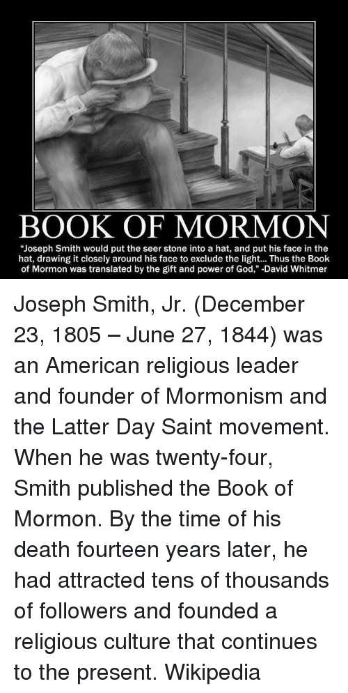 an analysis of latter day saints and racism in the book of mormon by joseph smith Full question i heard that the mormon church teaches racist views, but a mormon i know told me that this isn't true what's the story answer like many people of his period, joseph smith, the founder of mormonism, harbored racist views.