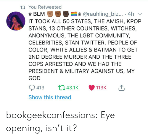 eye: bookgeekconfessions:  Eye opening, isn't it?