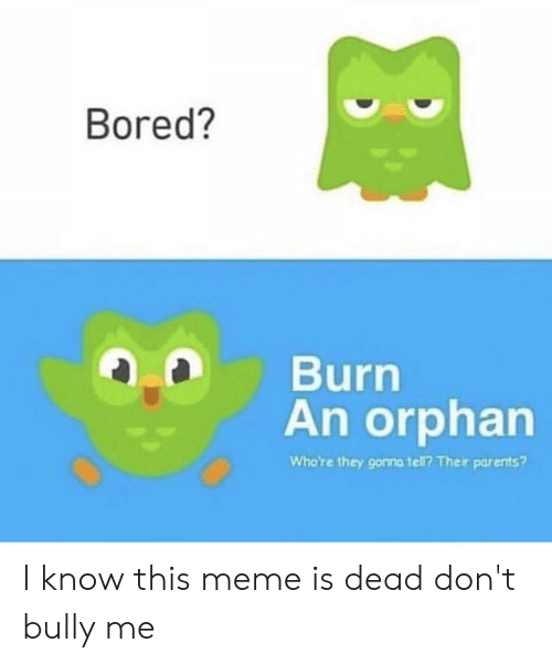 If You Are Ever Borec Punch an Orphan What Are the Gonna Do