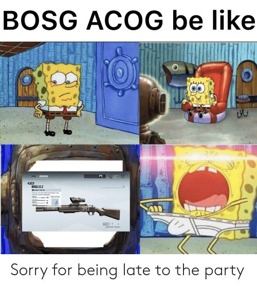Barrel Shotgun: BOSG ACOG be like  HOME  7654  OPERATORS  39  BACK  BOSG.12.2  TS  Y4540 0458522D004 551e 13710646  1PRIMARY WEAPON  Top break, over-under double-barrel shotgun. Long-  range and in tactical configuration  DAMAGE  RECOIL PATTERN  125  FIRE RATE  MOBILITY  CAPACITY  797  T  SWITCH VIEW ROTATE Sorry for being late to the party