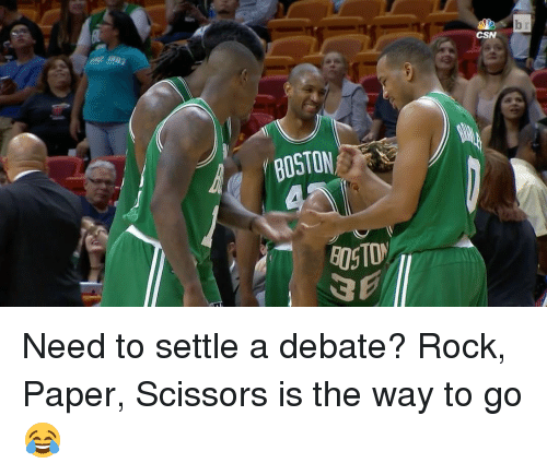 scissoring: BOSTON  CSN Need to settle a debate? Rock, Paper, Scissors is the way to go 😂