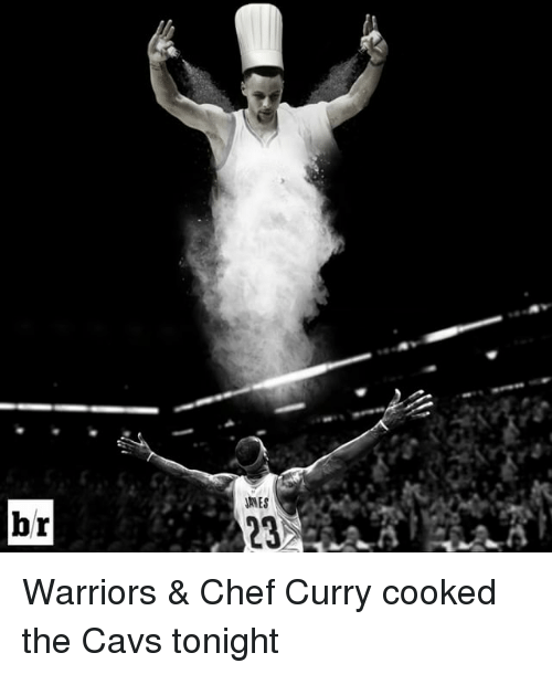 Chef Curry: br  AMES Warriors & Chef Curry cooked the Cavs tonight