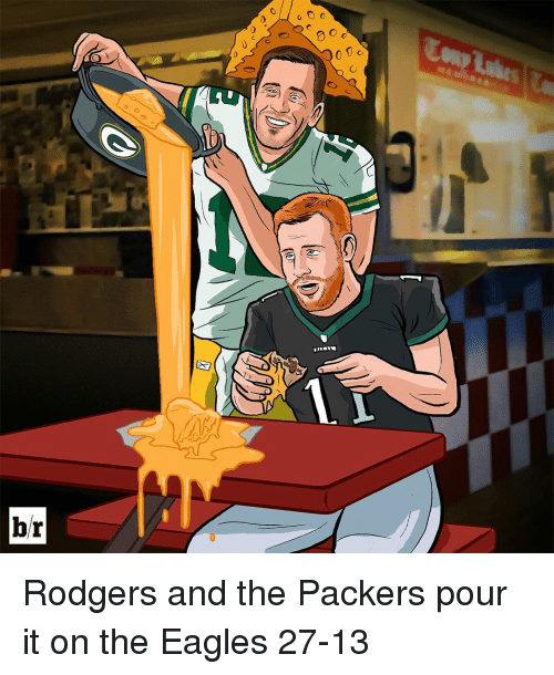 the eagle: br  o O o  0 C Rodgers and the Packers pour it on the Eagles 27-13
