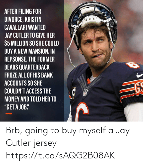 myself: Brb, going to buy myself a Jay Cutler jersey https://t.co/sAQG2B08AK