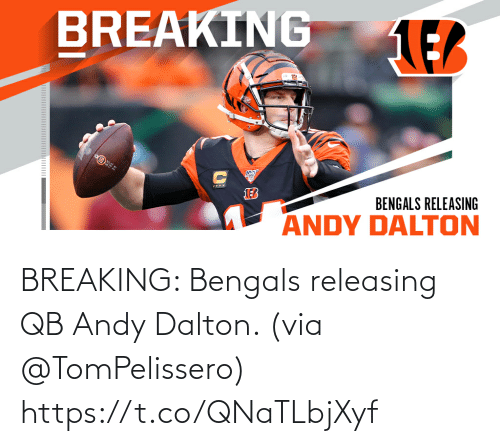 breaking: BREAKING: Bengals releasing QB Andy Dalton. (via @TomPelissero) https://t.co/QNaTLbjXyf