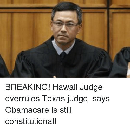 Hawaii, Obamacare, and Texas