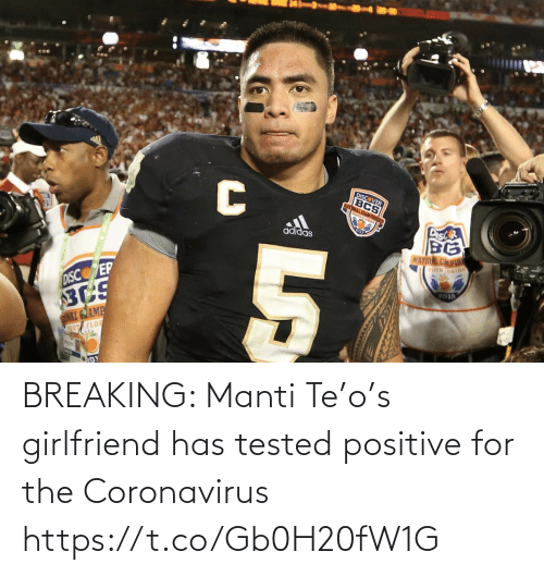 Football, Nfl, and Sports: BREAKING: Manti Te'o's girlfriend has tested positive for the Coronavirus https://t.co/Gb0H20fW1G