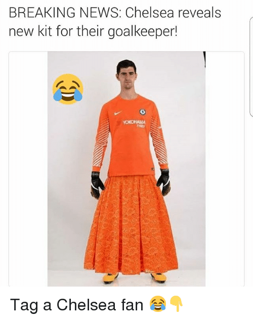 Chelsea, News, and Soccer: BREAKING NEWS: Chelsea reveals  new kit for their goalkeeper!  TYRES Tag a Chelsea fan 😂👇