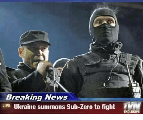 Sub-Zero: Breaking News  LIVE Ukraine summons Sub-Zero to fight T  EXCLUSIVE