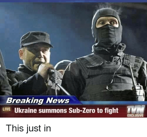 Sub-Zero: Breaking News  LIVE  Ukraine summons Sub-zero to fight TVM  EXCLUSIVE This just in