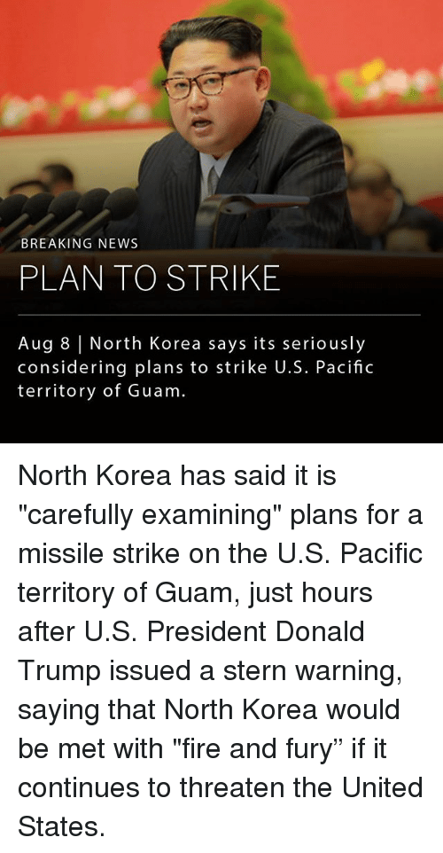 """u-s-president: BREAKING NEWS  PLAN TO STRIKE  Aug 8 