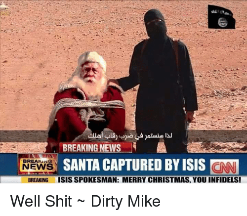 isis memes and news breaking news santa captured by isis cnn breaking news