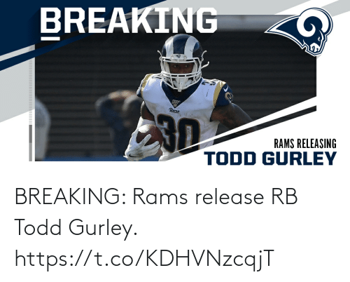 breaking: BREAKING: Rams release RB Todd Gurley. https://t.co/KDHVNzcqjT