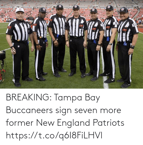 breaking: BREAKING: Tampa Bay Buccaneers sign seven more former New England Patriots https://t.co/q6I8FiLHVl