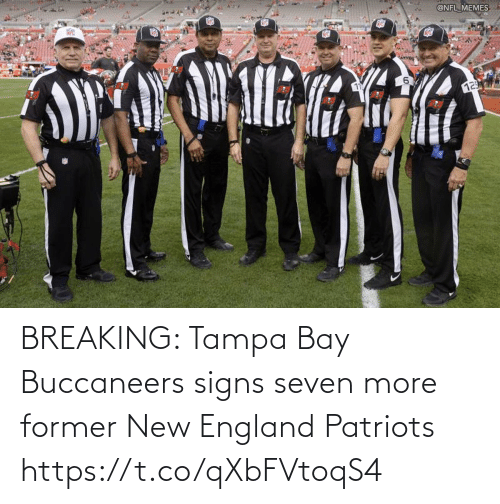 signs: BREAKING: Tampa Bay Buccaneers signs seven more former New England Patriots https://t.co/qXbFVtoqS4