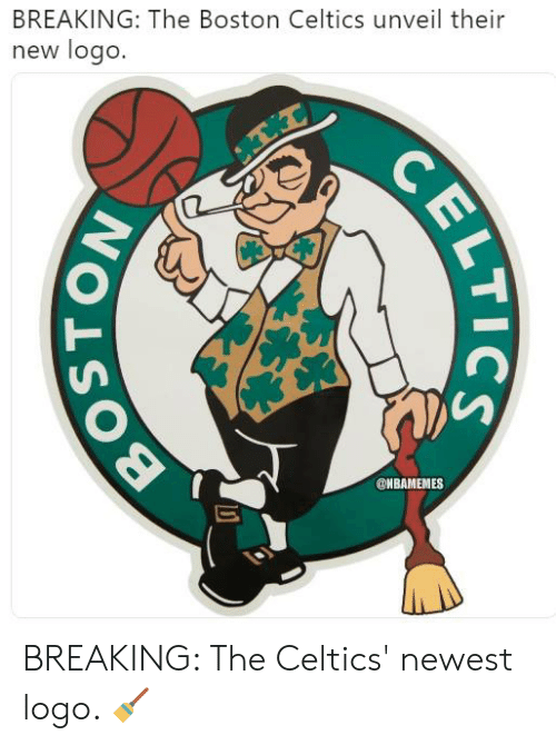 Celtics: BREAKING: The Boston Celtics unveil their  new logo.  @NBAMEMES BREAKING: The Celtics' newest logo. 🧹
