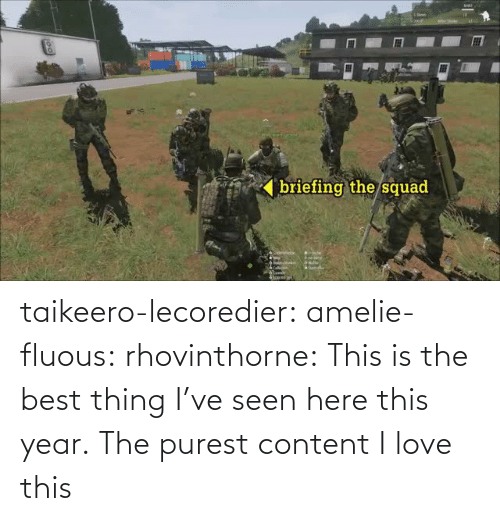 Love, Squad, and Tumblr: briefing the/squad  ' taikeero-lecoredier:  amelie-fluous:  rhovinthorne:  This is the best thing I've seen here this year.  The purest content  I love this