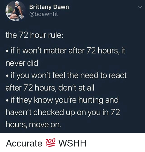72 hour rule dating
