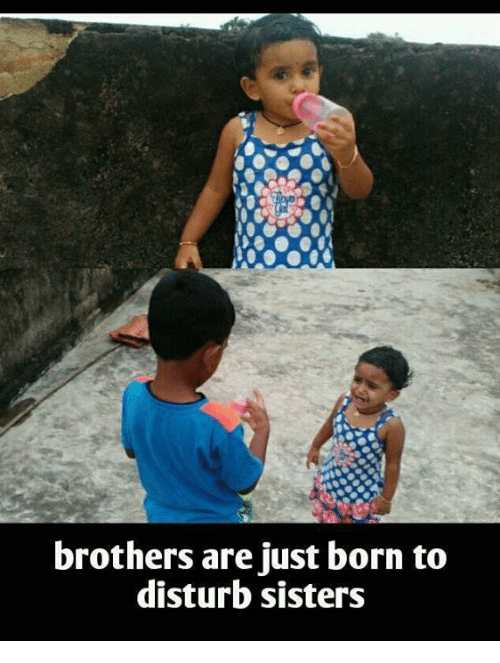 Brothers Are Just Born to Disturb Sisters | Meme on esmemes com