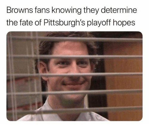 Memes, Browns, and Fate: Browns fans knowing they determine  the fate of Pittsburgh's playoff hopes