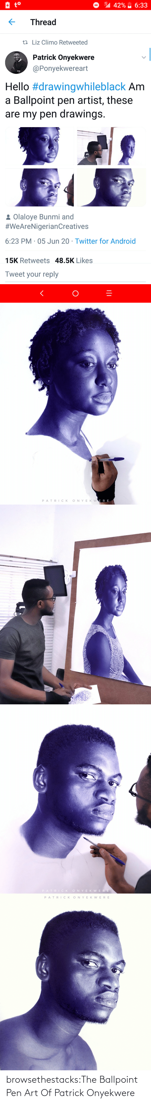 Twitter: browsethestacks:The Ballpoint Pen Art Of Patrick Onyekwere