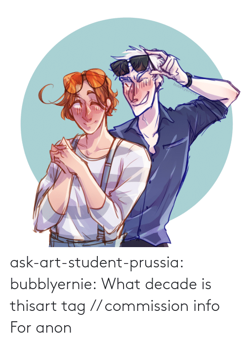Draws: bubblyerne ask-art-student-prussia:  bubblyernie:  What decade is thisart tag // commission info   For anon