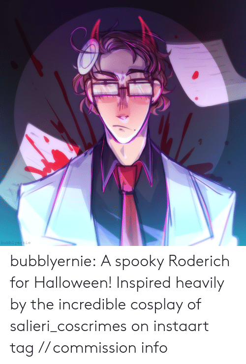 Draws: bubblyernie bubblyernie:  A spooky Roderich for Halloween! Inspired heavily by the incredible cosplay of salieri_coscrimes on instaart tag // commission info