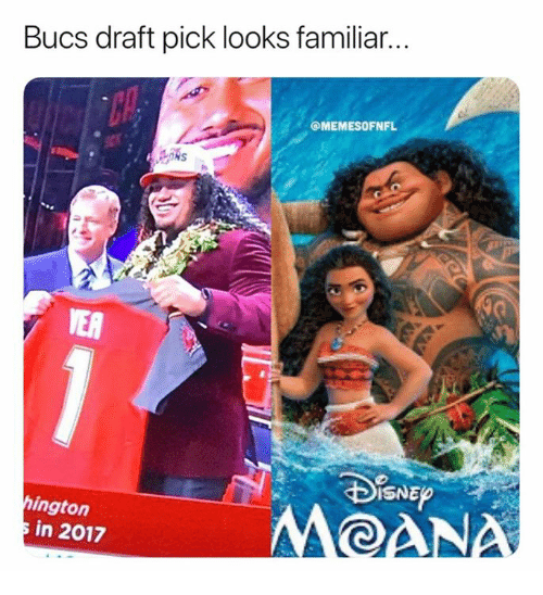 Nfl, Familiar, and Draft: Bucs draft pick looks familiar.  @MEMESOFNFL  TER  ISNE  ington  in 2017