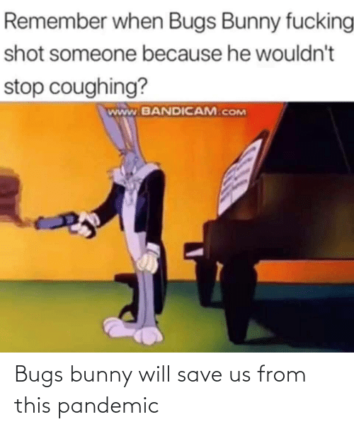 bunny: Bugs bunny will save us from this pandemic