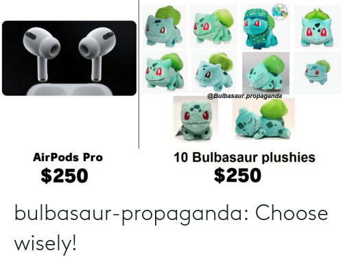 Choose Wisely: bulbasaur-propaganda: Choose wisely!