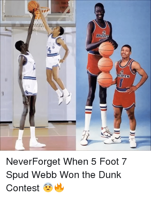spud webb: Bulle NeverForget When 5 Foot 7 Spud Webb Won the Dunk Contest 😨🔥