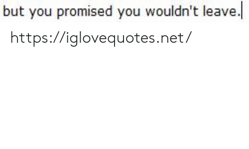 Net, You, and Href: but you promised you wouldn't leave https://iglovequotes.net/