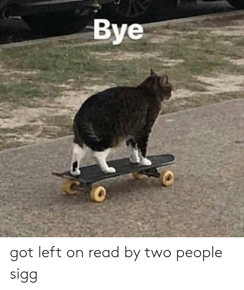 Got, Read, and People: Bye  0 got left on read by two people sigg