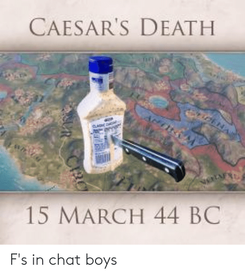 Caesars Death: CAESAR'S DEATH  i2ENA  15 MARCH 44 BC  URCRO F's in chat boys
