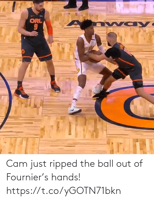 hands: Cam just ripped the ball out of Fournier's hands!  https://t.co/yGOTN71bkn