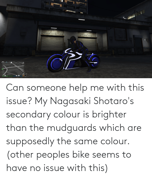 Colour: Can someone help me with this issue? My Nagasaki Shotaro's secondary colour is brighter than the mudguards which are supposedly the same colour. (other peoples bike seems to have no issue with this)