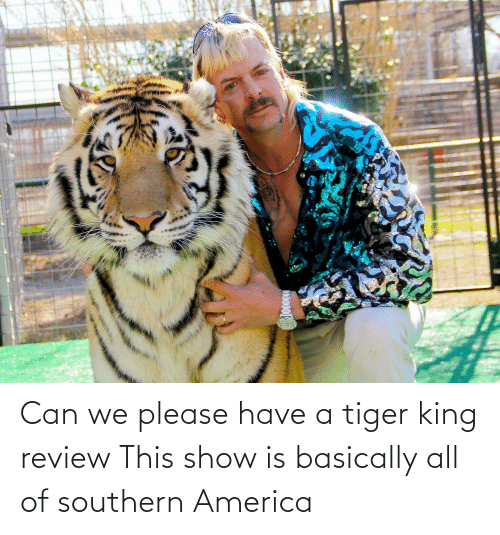 Southern: Can we please have a tiger king review This show is basically all of southern America