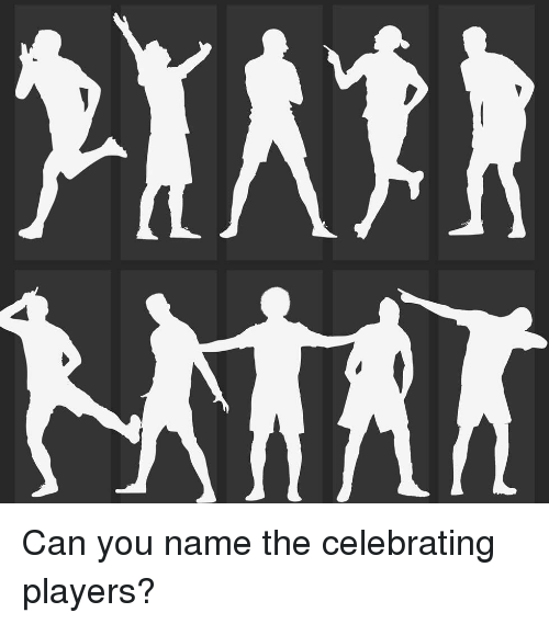 Memes, 🤖, and Can: Can you name the celebrating players?