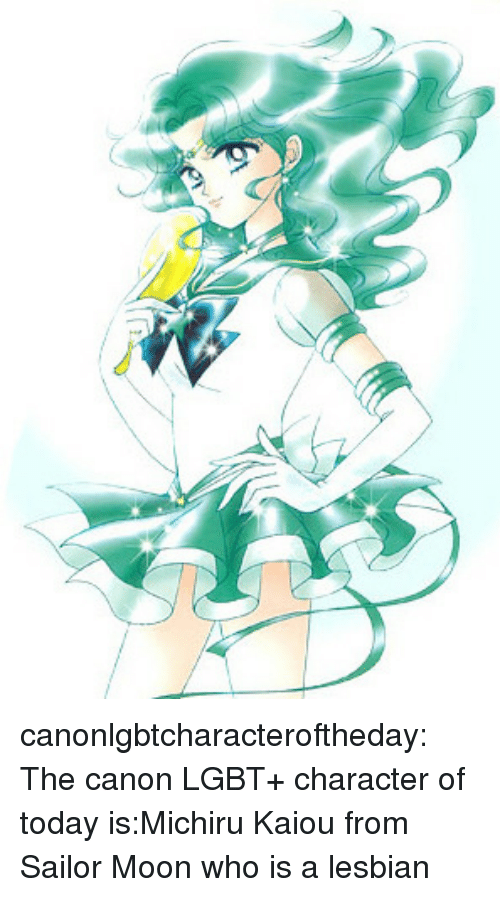 Lgbt, Sailor Moon, and Target: canonlgbtcharacteroftheday:  The canon LGBT+ character of today is:Michiru Kaiou from Sailor Moon who is a lesbian