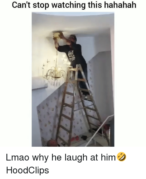 Funny, Lmao, and Him: Can't stop watching this hahahah Lmao why he laugh at him🤣 HoodClips