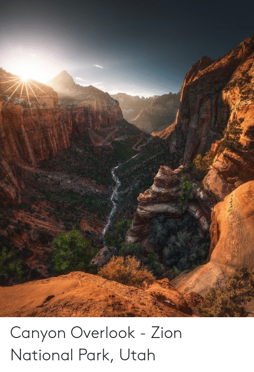 Utah, Zion, and Zion National Park: Canyon Overlook - Zion National Park, Utah