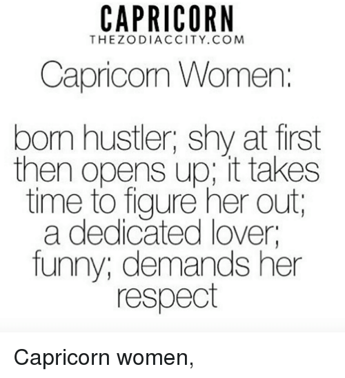 CAPRICORN THEZODIACCITYCOM Capricom Women Bom Hustler Shy at First