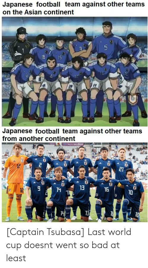World Cup: [Captain Tsubasa] Last world cup doesnt went so bad at least