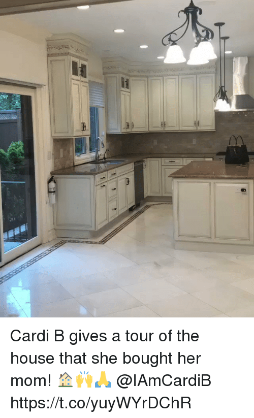 House, Mom, and Cardi B: Cardi B gives a tour of the house that she bought her mom! 🏠🙌🙏 @IAmCardiB https://t.co/yuyWYrDChR